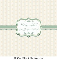 Illustration elegant frame on pattern .Vector