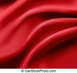 illustration., elegante, vetorial, cetim, texture., vermelho