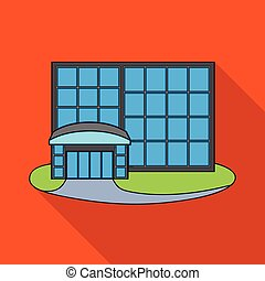 illustration., emporio, vector, acción, diseño, tienda, icon., ventana, conjunto