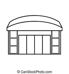illustration., emporio, vector, ventana, colección, diseño, acción, tienda, logo.