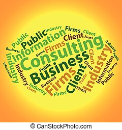 illustration., empresa / negocio, texto, concept., etiqueta...