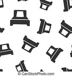 illustration., entspannen, muster, symbol, pattern., seamless, bett, hintergrund., vektor, schlaf, schalfzimmer, sofa, ikone