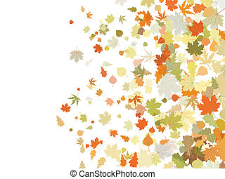 illustration., eps, foglie, atumnall, riscaldare, 8