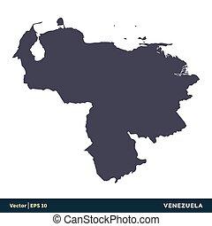 illustration, eps, sud, vecteur, amérique, venezuela, -, logo, design., icône, pays, 10., carte, gabarit