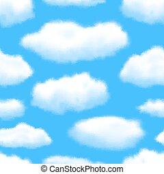 illustration, eps10, sky, seamless, bakgrund., vektor, editable