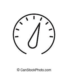 illustration., erfolg, vektor, design, leistung, icon., geschwindigkeit