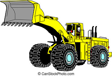 illustration, excavateur