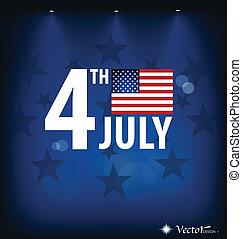 illustration., fahne, day., amerikanische , vektor, ...