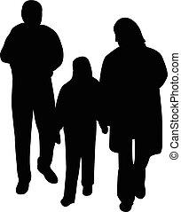 illustration, famille