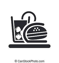 illustration, fast-food, isolé, icône, vecteur, unique