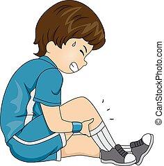 Leg Cramps - Illustration Featuring a Boy Having Leg Cramps