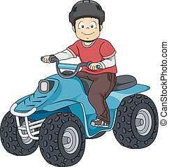 All Terrain Vehicle - Illustration Featuring a Boy Riding an...