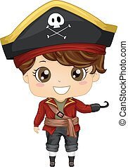 Pirate Costume - Illustration Featuring a Boy Wearing a...