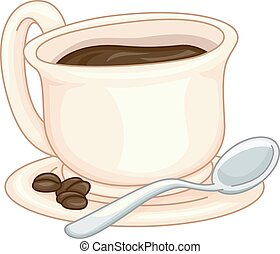 Cup of Coffee - Illustration Featuring a Cup of Coffee with...