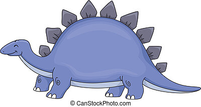 Stegosaurus - Illustration Featuring a Cute Stegosaurus