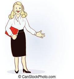 Illustration Featuring a Female Accountant. Vector image