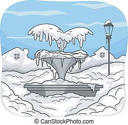 Frozen Water Fountain