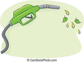Biofuel - Illustration Featuring a Gas Pump Nozzle Spouting...