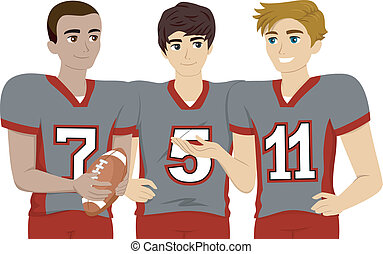 Football Uniform - Illustration Featuring a Group of Male...
