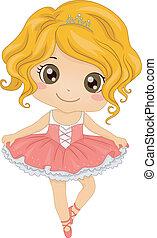 Illustration Featuring a Little Ballerina