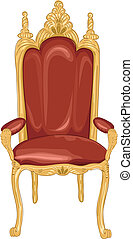 Royal Chair - Illustration Featuring a Royal Chair in Red...