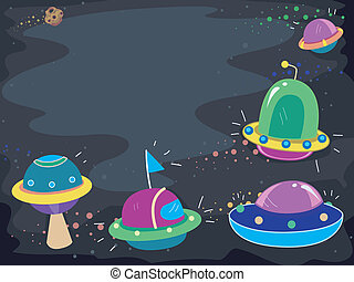 Colorful UFOs