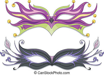 Masquerade Masks - Illustration Featuring Fancy Masquerade...