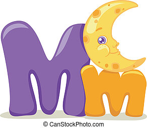 Letter M - Illustration Featuring the Letter M