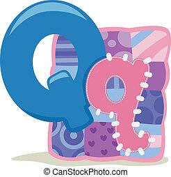 Letter Q - Illustration Featuring the Letter Q