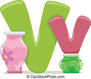 Letter V - Illustration Featuring the Letter V