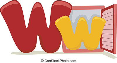 Illustration Featuring the Letter W