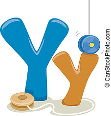 Letter Y - Illustration Featuring the Letter Y