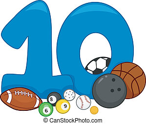 Illustration Featuring the Number 10