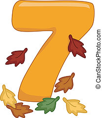 Number 7 - Illustration Featuring the Number 7