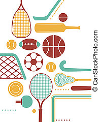 Sports Equipment - Illustration Featuring Various Sports...