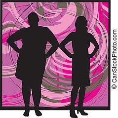 illustration, femmes