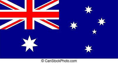 illustration., flag., australia, vettore, australiano,...