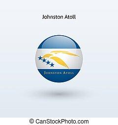 illustration., flag., vector, johnston, ronde, atol