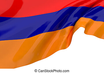 Illustration flags of Armenia