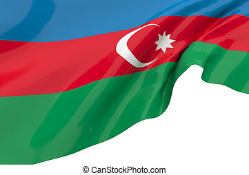 Illustration flags of Azerbaijan