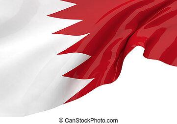 Illustration flags of Bahrain