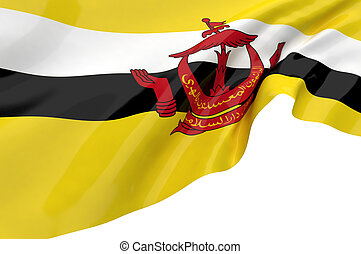 Illustration flags of Brunei