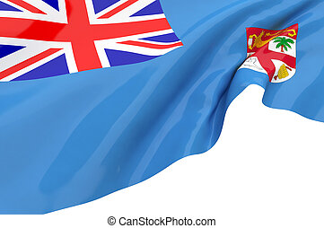 Illustration flags of Fiji
