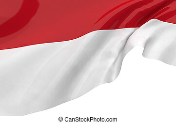Illustration flags of Indonesia