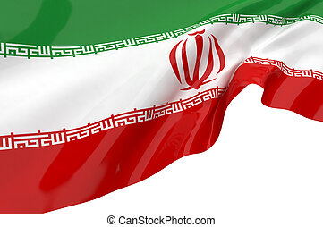 Illustration flags of Iran