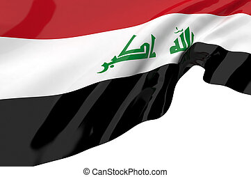 Illustration flags of Iraq