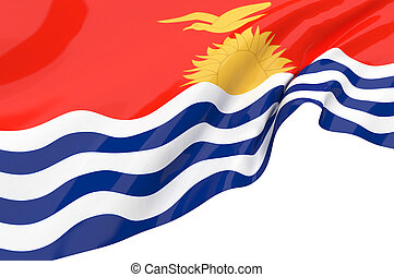 Illustration flags of kiribati