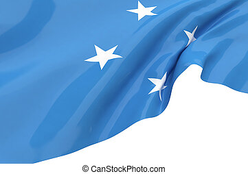Illustration flags of Micronesia