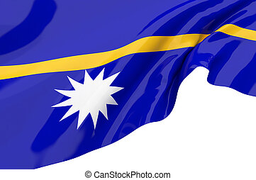 Illustration flags of Nauru