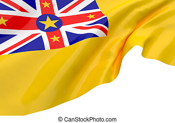 Illustration flags of Niue